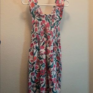 Hatley Floral Smocked Cotton Dress EUC